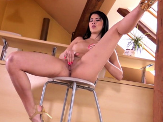 Asian Teen Lady Dee Fingering Her Tiny Pussy