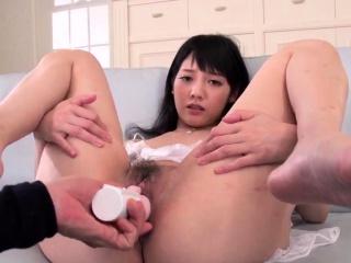 Complete cock sucking Japan threesome with Rei Mizuna -