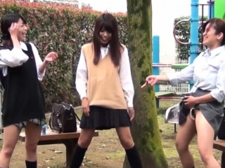 Asian students urinating