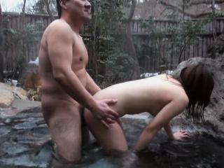 Japanese Akiko Kurokawa got fucked in the spa uncensored