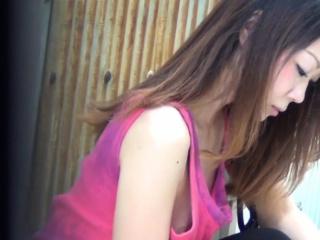 Japanese teen boobs spied