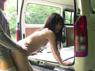 Uncensored JAV pale amateur blowjob and raw sex outside