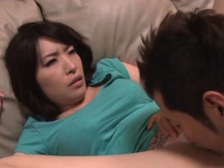 Enjoyable older japanese babe gives a steaming blowjob