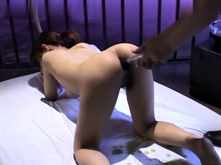 Fetish Doll Toying Twat During Spanking