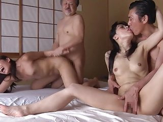 Wife swapping with mature Japanese women Subtitles