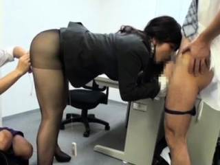 Very pretty office chick gets incredible sexual joy