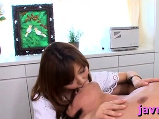 Sexy japanese milf's pleasing fur pie and mouth screwed