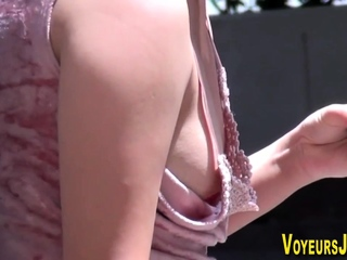 Asians side boobs and nip