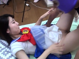 Debut Teen Seira Fucks Uncensored In Cosplay Shaved Pussy