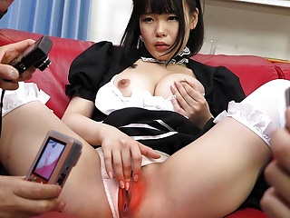 Japanese maid, Ai Mashiro is having a blast, uncensored