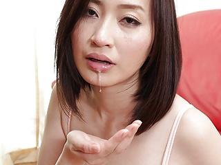 Japanese housewife Ami Kikukawa sucks dick, uncensored