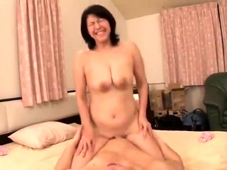 Japanese hairy and creamy pussy