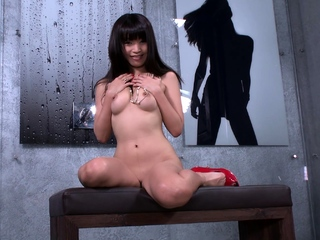 Japanese girl watches guy masturbate and cant