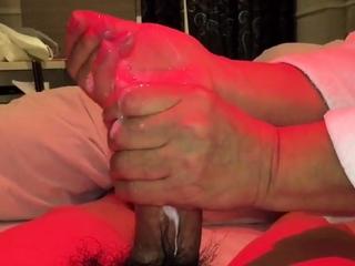 Japanese mature handjob2