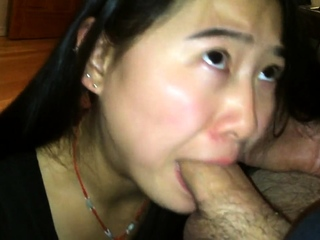 asian giving a deepthroat