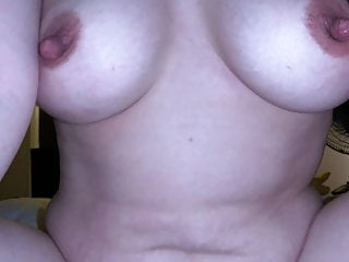 Hairy wife with nice tits rides my cock