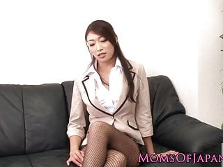 Busty japanese business MILF wants cock