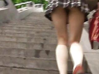 Japanese teen pantieless upskirt