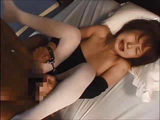 Asian leotard and white pantyhose tease