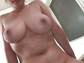Busty wife in bathroom