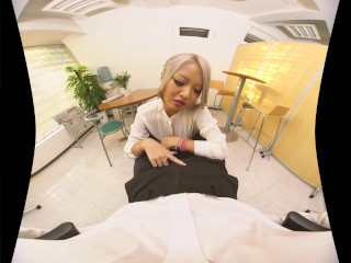 vrpornjack.com - Teacher calls you in the office - Uncensored JAV